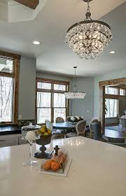 Robert Abbey Bling Chandelier Transitional Gray Kitchen Remodel Home Bunch U2013 Interior Design Ideas