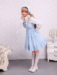 lolitashow cotton blue white gingham check dress