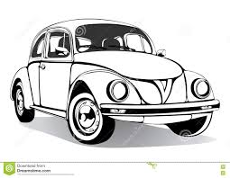 cartoon car drawing vintage car sketch coloring book black and white drawing