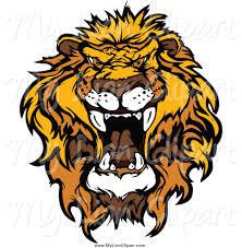 free clipart lion head