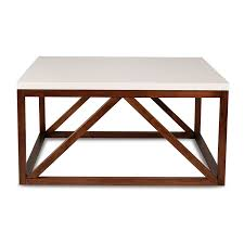 furniture oak square coffee table with glass top design and brown