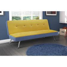 Junior Futon Sofa Bed Junior Microfiber And Denim Futon Walmart Com