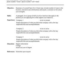 simple resume format examples sample resume text resume text