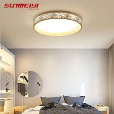 plafonnier chambre dimmable led plafonniers luminaire moderne mince luminaire