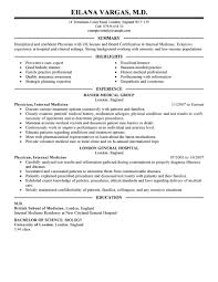 Examples Of Summary On A Resume by Best Doctor Resume Example Livecareer