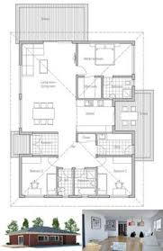 Inexpensive To Build House Plans Small Home Plan With Very Simple Lines And Shapes Affordable To