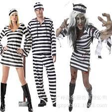 Prisoner Halloween Costumes Couple Halloween Prisoner Cosplay Costumes Lover Zombie Vampire