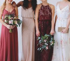 Wedding Dresses In How To Style Mismatched Bridesmaid Dresses Mix Match Maids And