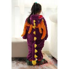 Spyro Dragon Halloween Costume Boys U0026 Girls Purple Spyro Dragon Kigurumi Onesies Pajamas Costumes