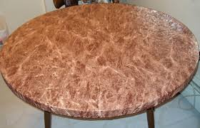 Fitted Round Tablecloth Amazon Com Brown Marble Elastic Fitted Vinyl Indoor Outdoor 44