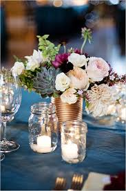 Mason Jar Centerpieces Wedding by 45 Charming Inexpensive Country Tin Can Wedding Ideas Mason Jar