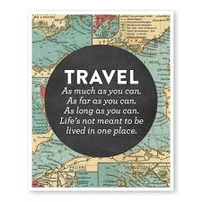 Oem 190 607 by Travel Quote Art Wanderlust Print Map Travel Decor Home