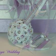 purple wedding guest book wedding guest book and pen crystals personalized guest book