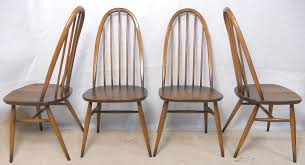 Ercol Dining Chair Of Four Ercol High Stickback Golden Kitchen Dining Chairs Sold