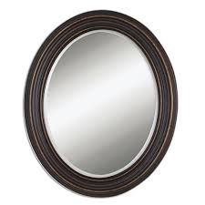 uttermost ovesca dark oil rubbed bronze oval mirror oil rubbed
