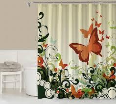 Shower Curtain Contemporary Floral Shower Curtain Contemporary Bathroom Codysloft