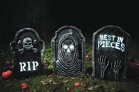 strobing tombstone halloween prop decoration
