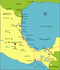 Map Of Mexico Coast by Camping Places