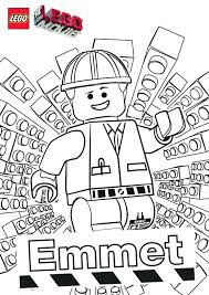 the lego movie coloring pages free printable for lego emmet eson me