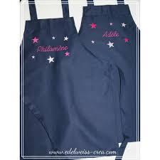 tablier de cuisine personnalisé brodé tablier de cuisine enfant bleu marine edelweiss creation