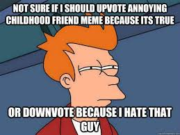 Annoying Childhood Friend Meme - futurama fry memes quickmeme