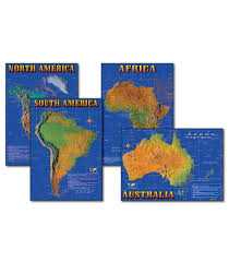 Seven Continents Map Seven Continents Of The World Bulletin Board Set Grade 4 8