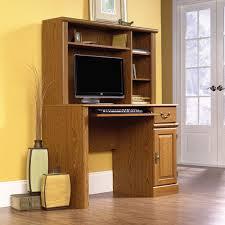 Flat Computer Desk Sauder Orchard Computer Desk With Hutch Carolina Oak Finish