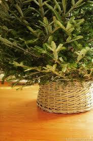 brown christmas tree skirt diy basket christmas tree skirt in my own style