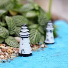 mini resin solid lighthouse ornaments micro landscape