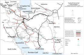 map iran islamic republic of iran railways