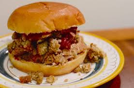 thanksgiving at the cground turkey sandwiches with and
