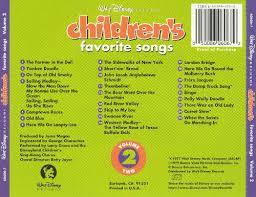 disney children s favorites songs vol 2 disney disneyland