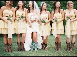 bridesmaid dresses with cowboy boots yellow bridesmaid dresses with boots best dress ideas