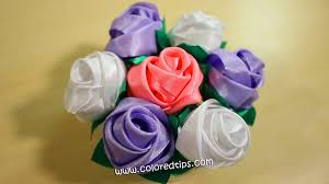 silk ribbon roses diy ribbon how to make buds out of ribbon idunn goddess