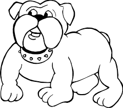 bull dog puppy coloring wecoloringpage