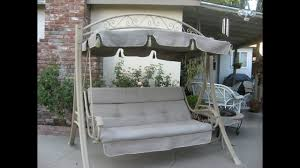 Hampton Bay Palm Canyon Replacement Cushions Costco Patio Swing Cushions Seat Support And Canopy Fabric