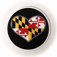 Black Flag Family Maryland Flag Heart Cork Coaster U2013 Route One Apparel