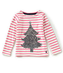 joules 3 6 sequin tree striped dillards