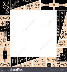 templates frame with tribal ornaments stock