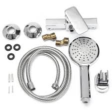 compare prices on bathroom tap fittings online shopping buy low new bathroom shower sets water faucet tap bath shower head showerhead holder kits faucet hose fitting