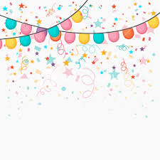 festive celebration background with colorful balloons and confetti