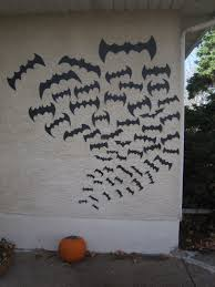 Halloween Crafts Made Out Of Paper by Chuck Does Art Halloween Decorations Pumpkins And Bats