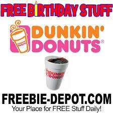 birthday stuff free birthday stuff dunkin donuts freebie depot
