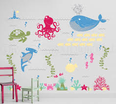 ocean friends wall decal under the sea wall decal octopus