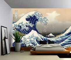 the great wave off kanagawa large wall mural self adhesive