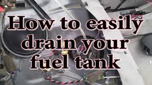 lexus is 200t gas tank how to easily drain your fuel tank youtube