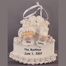 wedding cake ornament personalized