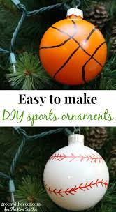 make these easy diy baseball and basketball ornaments the six fix