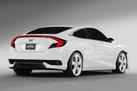2016 honda civic sedan coupe u0026 hatchback renders leaked 10th