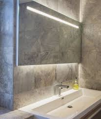 Illuminated Bathroom Mirrors Wide Illuminated Bathroom Mirror With Backlit Effect For Or